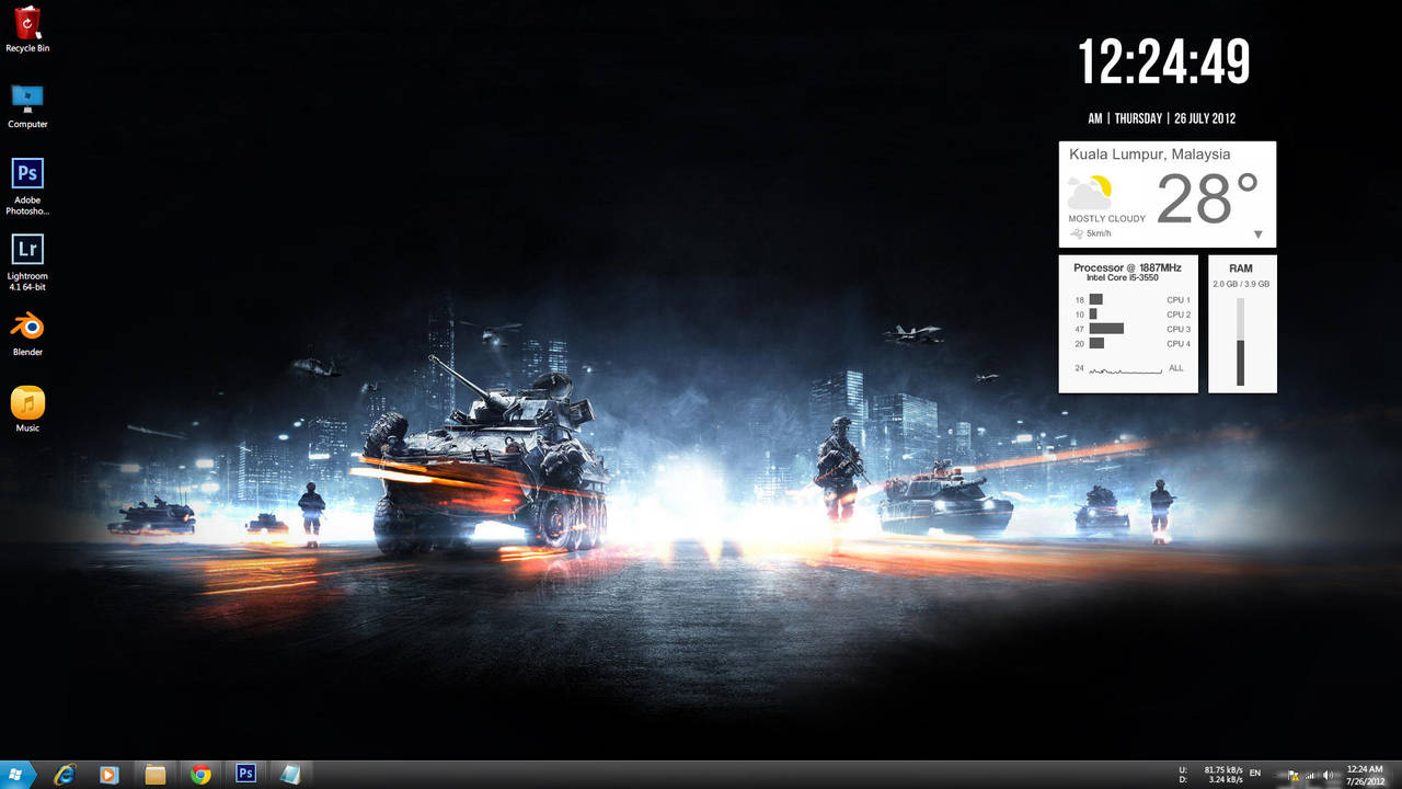 Desktop Screenshot 26th July by BenSow