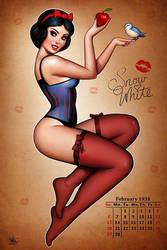 Snow White Pinup by Nszerdy