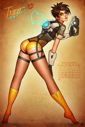 Overwatch Tracer Pinup by Nszerdy