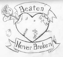 Battered Heart by SparklinBurgndy