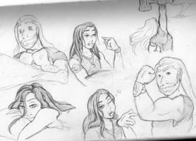 Thor and Loki sketches by SparklinBurgndy