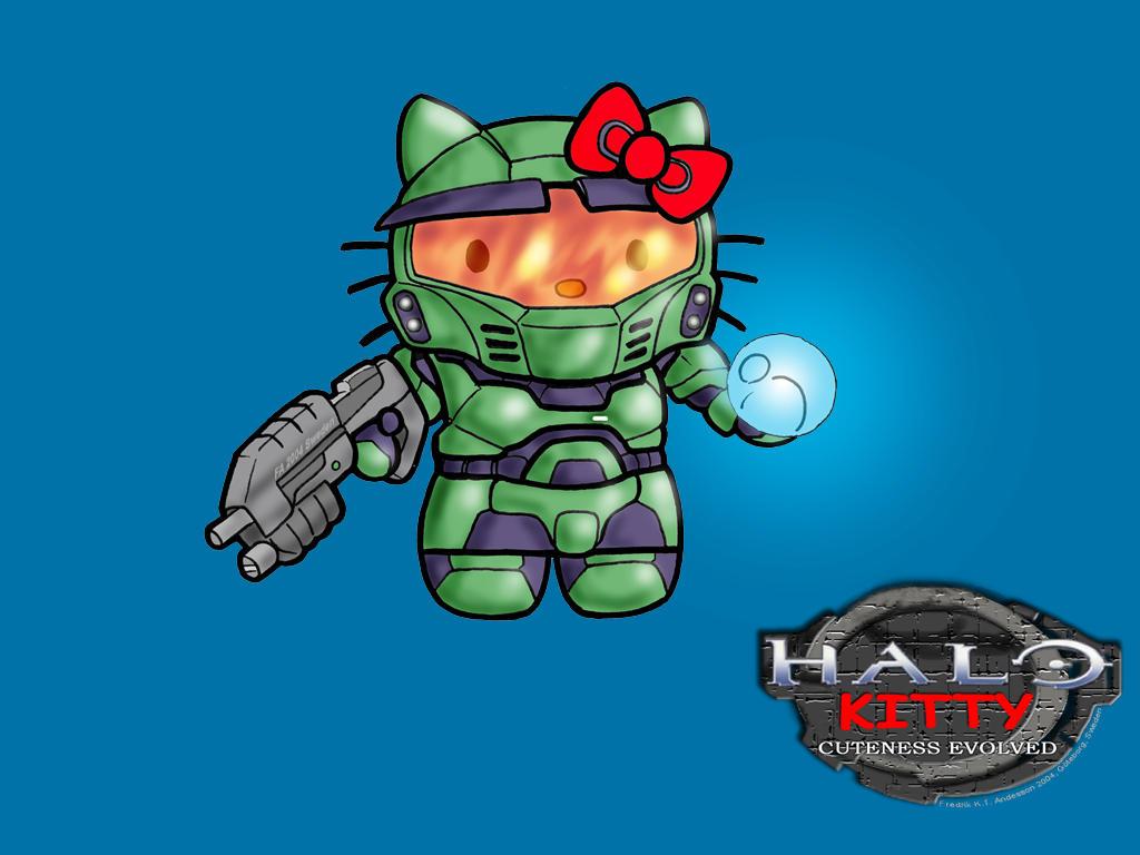 HALO Kitty by DerangedMeowMeow