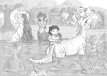 Bad Bathing Buddies - Act 14 by DerangedMeowMeow