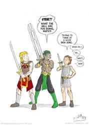 Sword Joke by DerangedMeowMeow