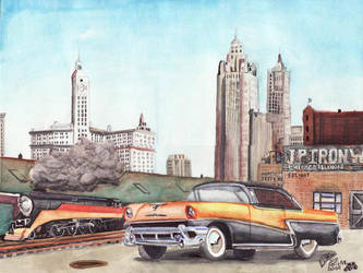 1956 Mercury Montclair by FastLaneIllustration