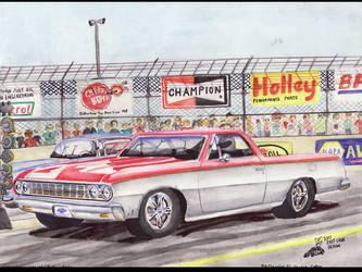 1964 Chevrolet El Camino by FastLaneIllustration