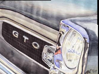 1966 Pontiac GTO Close Up. by FastLaneIllustration