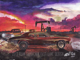 The Life Story Of A 1970 Chevy Chevelle (Part 9) by FastLaneIllustration
