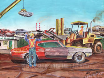 The Life Story Of A 1970 Chevy Chevelle (Part 19) by FastLaneIllustration