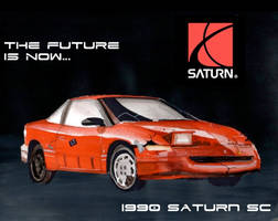 The Future Is Now (Funny Saturn Painting) by FastLaneIllustration