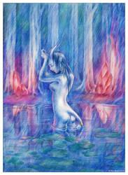 Draenei Girl by IrisErelar