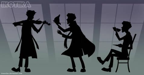 Sherlock_silhouettes by IrisErelar