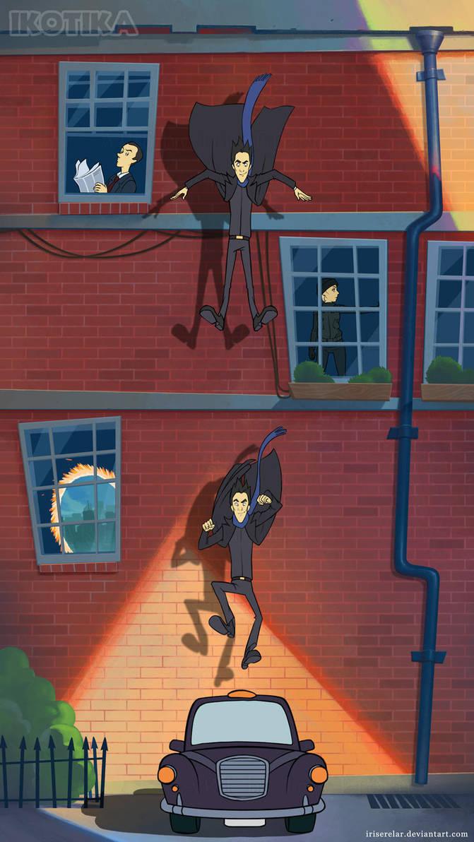 Falling_into_cab_scene_chars by IrisErelar