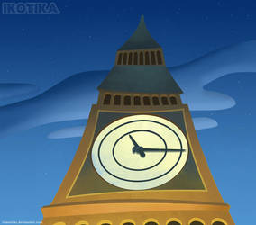 Clock_Tower_background by IrisErelar