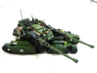 Lego Apocalypse Tank 'Mix' 8 by SOS101