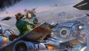 Battle in the sky by Shinyfurry