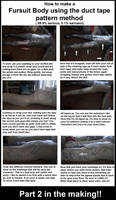 Body suit patterning: A how to with tape by Sharpe19