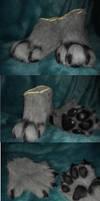 Greyscale Hyena- hands and feet by Sharpe19