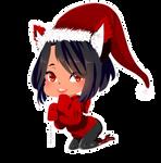 Christmas Aphmau Chibi by Sis-chan