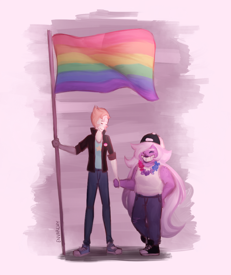 Pearlmethyst Week Day 1- Pride Month There's another Pearlmethyst Week going on rn,, bless On Tumblr | Instagram | Twitter