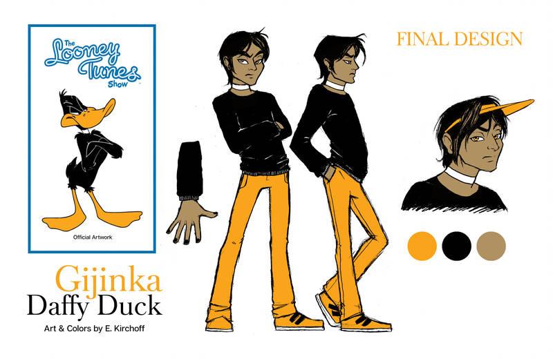 Gijinka Daffy Duck Final Version by Yastach