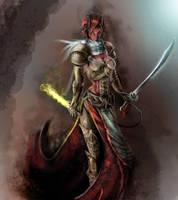 Scarlet the Tiefling by Jorgius