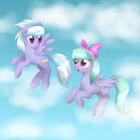 Cloudchaser and Flitter by Kitsunewolf95
