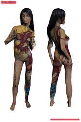 Akane Dakimakura (Nude) by AndyOH-TMI