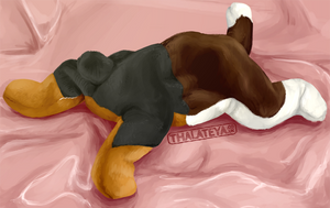 Buttbutt Analytical Drawing by Thalateya
