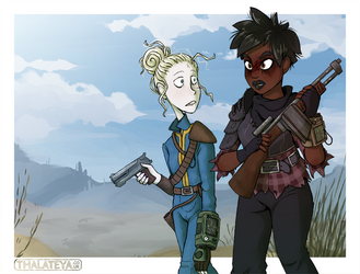 FO - Abbie and Kell by Thalateya