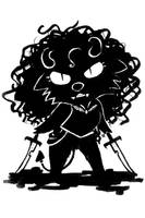 Inktober 16: Shadow Demon by Thalateya