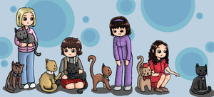 Cats And Companions by Green-Garnet