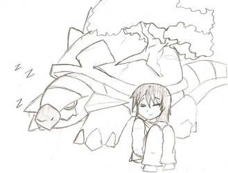 Pokefriends Sleeping by Pikayunajess