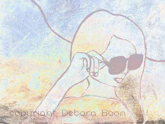 Women with sunglasses by deboraboon