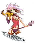 illustration magician girl by ensonkong