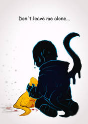 Don't Leave me alone - Nightmare!Sans by VanaBananaSplit