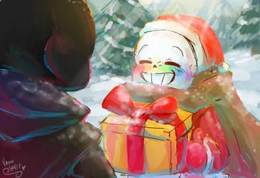 Merry Christmas Error! - Ink!Sans by VanaBananaSplit