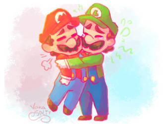 Brothers hug / COMMISSION / by VanaBananaSplit