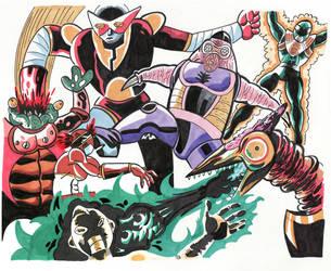 Sentai versus Monsters by NecroAnomaly
