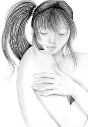 hugging myself by NanakoHarrison