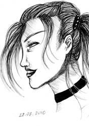 random girl, art damp by NanakoHarrison