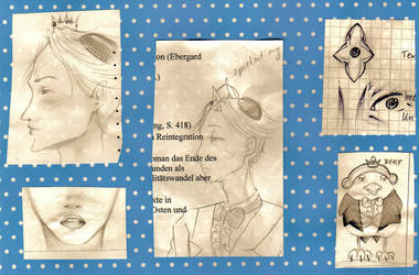 YYA doodles - blue polka dot by NanakoHarrison