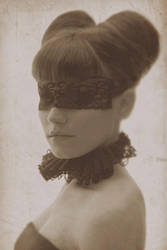 Sepia portrait by lucylle
