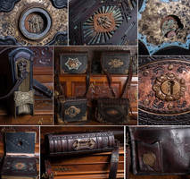 Heavy victorian shoulder bags. by Aetherwerk