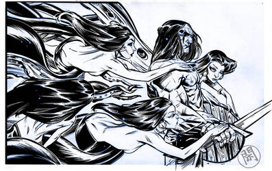 OCTI-CONAN INKS OVER Wamester by darquem