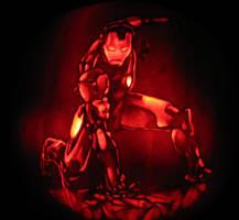 ironman pumpkin by qw3323