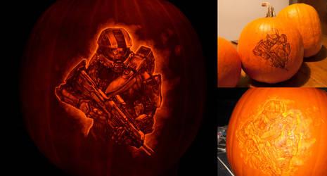 Halo 4 pumpkin process by qw3323