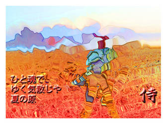Samurai in the field by PapaGolf54