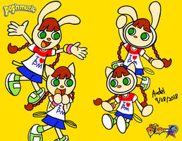 Mimi and Nyami meet Bomber selves by MamonStar761