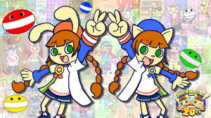 Mimi and Nyami 20th Anniversary v2 [Pop'n Music] by MamonStar761